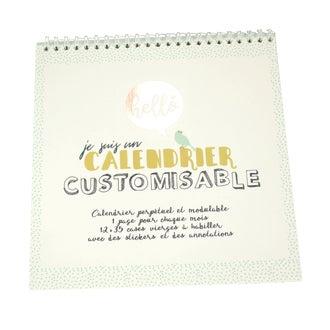 Je suis un calendrier customisable blanc