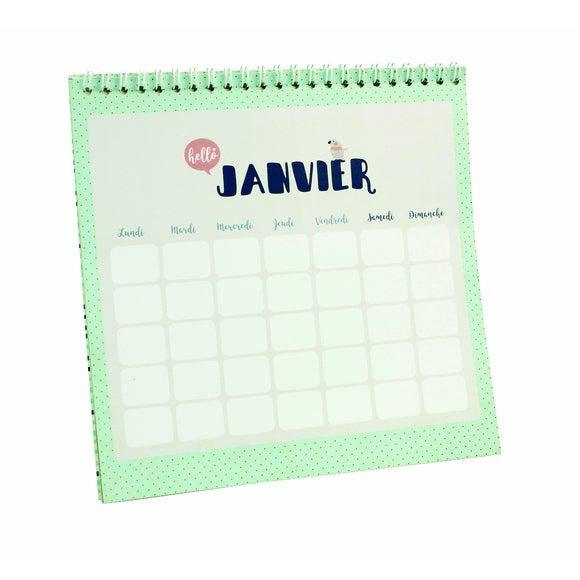 Achat en ligne Je suis un calendrier customisable blanc