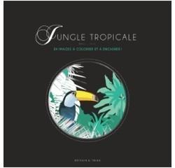 Achat en ligne Jungle tropicale - 24 images à colorier et à encadrer !
