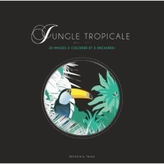 MARABOUT - Jungle tropicale - 24 images à colorier et à encadrer !