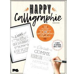 Achat en ligne Happy calligraphie - 32 messages antistress à calligraphier