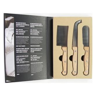 3 Couteaux à fromagemanche long en forme de livre