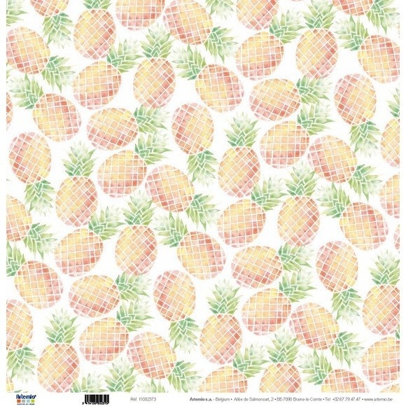 Feuille 30x30  ananas