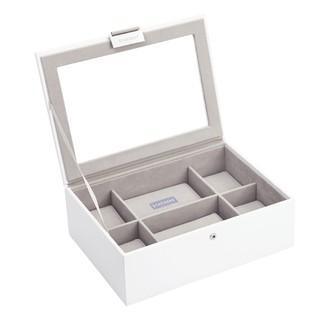 STACKERS - Coffret de rangement 8 montres, blanc intérieur gris