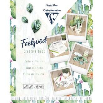CLAIREFONTAINE - Carnet créatif feelgood, Cactus et plantes, 26x21cm