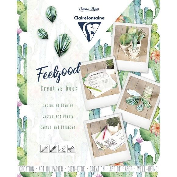Carnet créatif feelgood, Cactus et plantes, 26x21cm