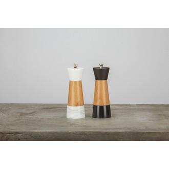 OGO - Moulin à sel en marbre et bois naturel 17cm