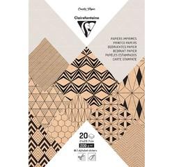 Achat en ligne Bloc A4 20 feuilles imprimées Krafty