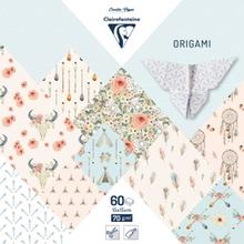 Achat en ligne Origami bloc 60 feuilles 15x15 cm -bohème chic