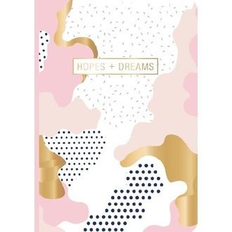 Carnet Hopes + Dreams imprimé graphique les créatifs de D&T