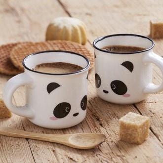 Coffret 2 tasses à expresso - panda