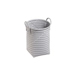 Achat en ligne Panier à linge ruban tressé pp gris/blanc 30x40cm