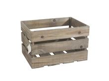 Achat en ligne Caisse en bois vintage marron 45x32x28cm