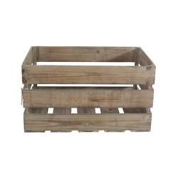 Achat en ligne Caisse en bois vintage marron 55x36x30cm