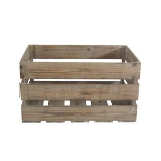 Caisse en bois vintage marron 55x36x30cm