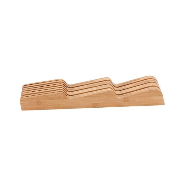 acquista online Portacoltelli compatto in bambù 42,5 x 5,7 x 6cm