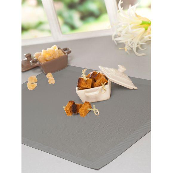 Set de table rectangulaire Doran Gris 45x30 cm