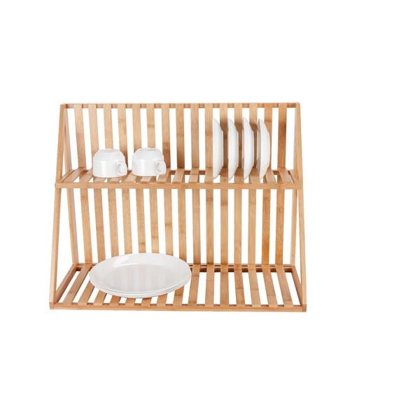 Égouttoir bambou 2 niveaux 60x28x48,5cm