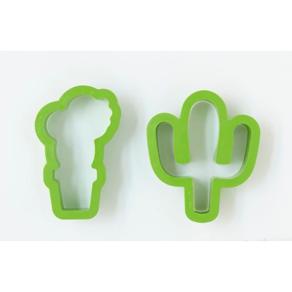 Lot 2 découpoirs cactus vert 9x2,2cm