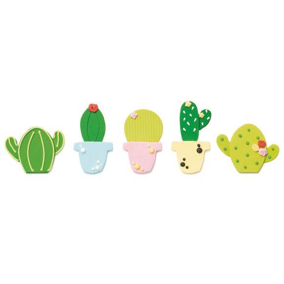 Décor en sucre 5 cactus 100g
