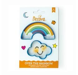 compra en línea Set de 2 cortapastas de nube y arcoiris azul (11 x 6 x 2 cm)