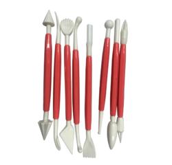 compra en línea Set de 8 estecas de plástico para diseño de tartas (21 cm)