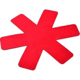Proteggi padella in feltro rosso Ø 36 cm, 3 pz