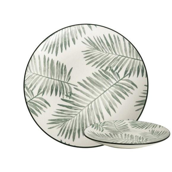 Achat en ligne Assiette Leaf Evergreen 21,5cm