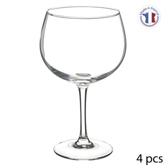 4 copas de balón de cristal para gintonic (70 cl)