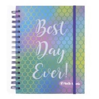 """Agenda 12 mois multicolore """"best day ever"""""""