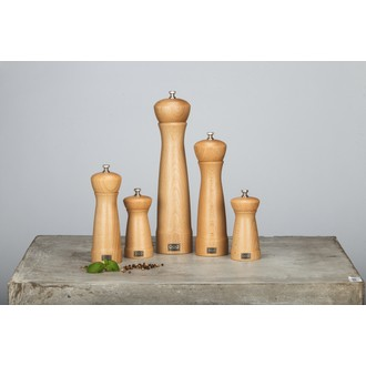 Moulin à sel en bois naturel Leo 30cm