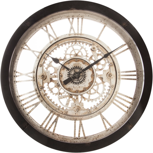 Achat en ligne Horloge engrenages 60,8x7cm