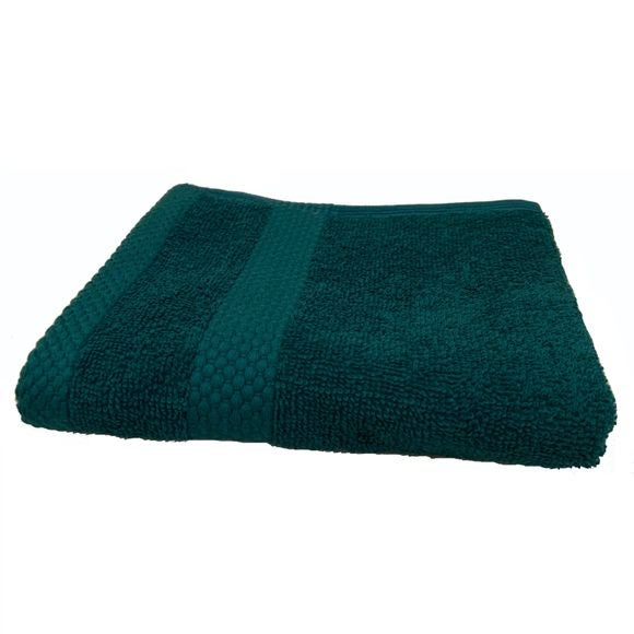 Asciugamano bidé in spugna di cotone 500gr, petrolio 30x50cm