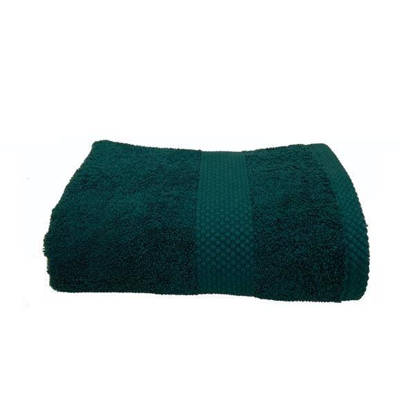 Asciugamano viso in spugna di cotone 500gr, petrolio 50x90cm