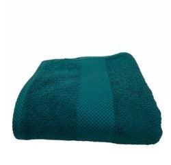 compra en línea Toalla de ducha de felpa de algodón turquesa (70 x 130 cm)