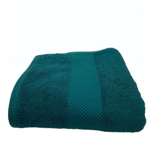Asciugamano in spugna di cotone 500gr, petrolio 70x130cm