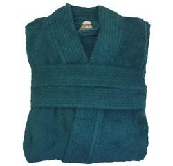 compra en línea Albornoz unisex talla L en felpa de algodón turquesa