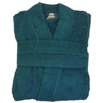 ZODIO - Peignoir en coton éponge peacok Taille L