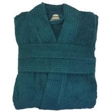 Achat en ligne Peignoir mixte taille L en coton éponge peacock