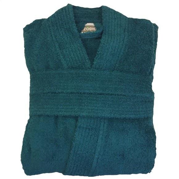 acquista online Accappatoio in spugna di cotone blu petrolio taglia XL