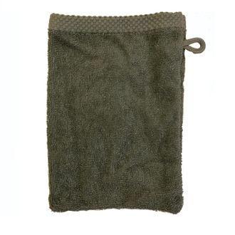 ZODIO - Gant de toilette en coton éponge fumé