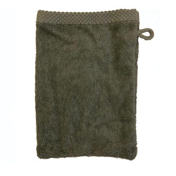Guanto da bagno in cotone verde salvia