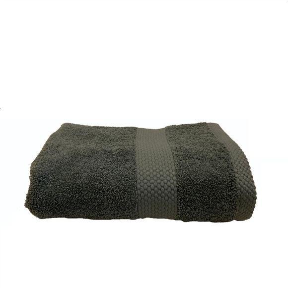 Asciugamano in spugna di cotone 500gr, grigio fumo 90x140cm