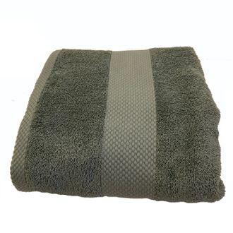 ZODIO - Serviette de bain en coton éponge fumé 90x140cm