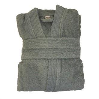ZODIO - Peignoir en coton éponge fumé Taille S