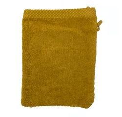 Achat en ligne Gant de toilette en coton éponge curry
