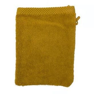 ZODIO - Gant de toilette en coton éponge curry
