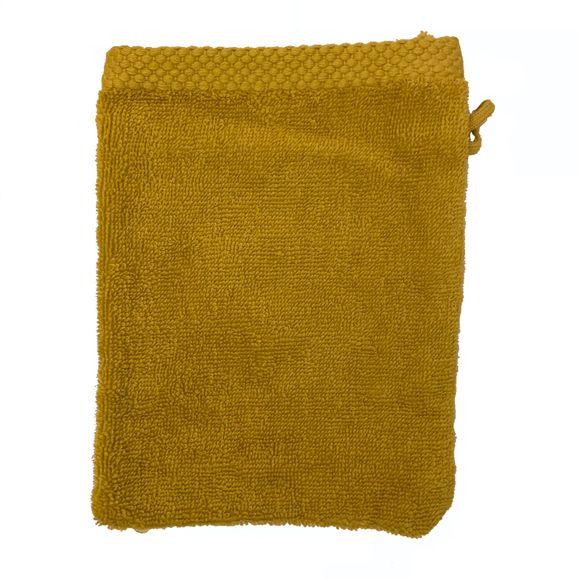 acquista online Guanto da bagno in cotone giallo curry