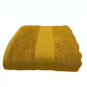 Serviette de douche en coton éponge curry 70x130cm