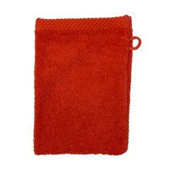 acquista online Guanto da bagno in cotone rosso